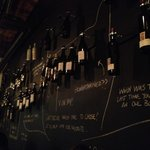 Wall-sized wine list!