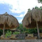hotel guests' huts at Punta Bunga