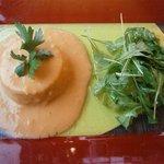 Soufflé de la mer sauce crevettes