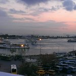 View from roof terrace across Kadikoy harbour