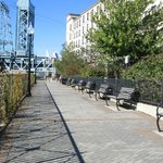 Riverwalk behind the hotel