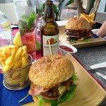 beautiful beef burgers add bacon