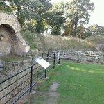 Ruins looking towards old bakehouse