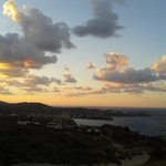 Sunset in Lygaria (view frmm the taverna at Spiros and Soula