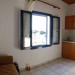 Apartment kitchen/living area