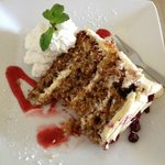 Hummingbird cake at Blue Water Cafe