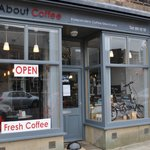 About Coffee's welcoming exterior on Church Street