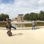 Segway to the Egyptian temple Madrid