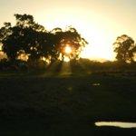Sonnenuntergang auf Leisure Isle