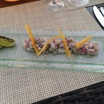 Seabass ceviche - A work of art and a taste sensation