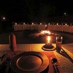 Dinner round the boma