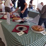 Pie competition at the village fair September 2013.