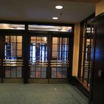Leaded glass on the entryway doors