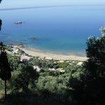 I went for a walk its a steep hill upto pelekas village
