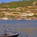 Sunset view of Nonsuch (and Kingswear - top left) from Dartmouth