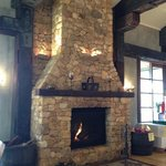 Warm & cosy fireplace.
