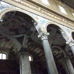 decorazioni del soffitto della navata laterale