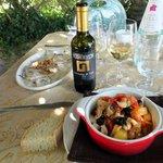 Ravioli, Grechetto et poulpe, délicieux !