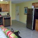 room, kitchen area