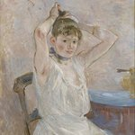 The Clark's collection includes this painting, The Bath, by Berthe Morisot.