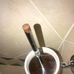 scopino del bagno arrugginito