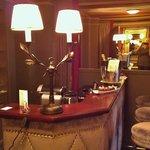 Full bar in suite