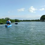 paddling with Warren