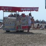 ice cream seller on the beach
