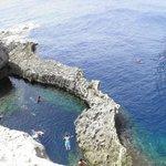 Dwejra Bay - bathing in the bay