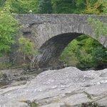 The bridge outside the pub