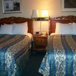 2 queen beds in the Fireplace Suite at Best Western Merry Manor, South Portland