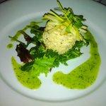 Cromer Crab Salad with apple and leek salad
