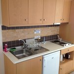 kitchen area at island blue well equipped
