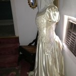 Antique gown - bride's bathroom