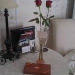 roses and chocolate in our room