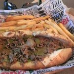 steak philly and fries