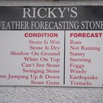 Funny  weather forecast board