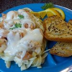 Blue Plate Special Garlic Shrimp Fettucini