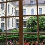 Hallway courtyard view