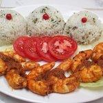 Shrimp flambè