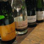 Champagneprovning före middagen