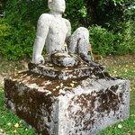 Statue at the rear garden
