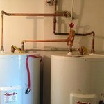 The cause of the smell -- rotting water heaters -smells of lakewater and rust
