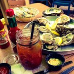 Bloody Mary and a dozen oysters