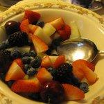 Lovely fresh fruit for breakfast. White Gill House.