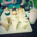 one of the lovely afternoon teas enjoyed by my mother and I