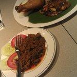 Nasi Bojari and Beef Rendang