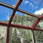 Glass roof on the Silver Vista