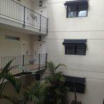 Courtyard inside the hotel