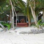 walk off beach into your villa